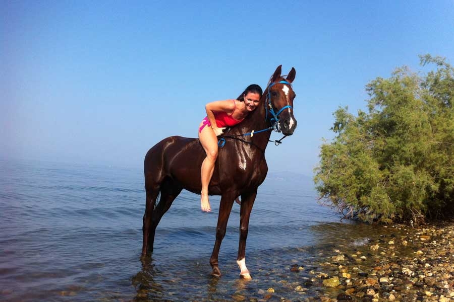 Horse Riding, Saily Hotel: Koropi beach Pelion Volos Magnesia Greece